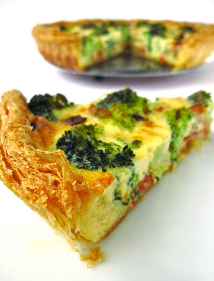 Recipe: Homemade puff pastry w/ broccoli & bacon quiche! YUM! Great for brunch...  Has great step by step instructions w photos.