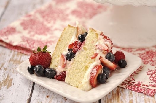 Berry Almond Butter Cake with Lemon Curd Cream Cheese Frosting- aka Strawberry ShortcakeLemon Curd, Berries Almond, Curd Cream, Almond Butter, Cheese Frostings, Strawberries Shortcake, Cream Cheeses, Butter Cakes, Cream Cheese Frosting