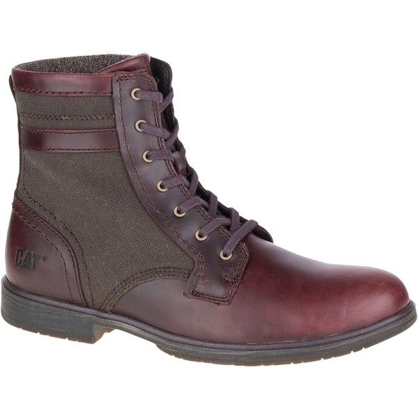 Caterpillar Abe Canvas II Boot (2,780 MXN) ❤ liked on Polyvore featuring men's fashion, men's shoes, men's boots, caterpillar mens boots, mens canvas boots, mens canvas shoes and caterpillar mens shoes
