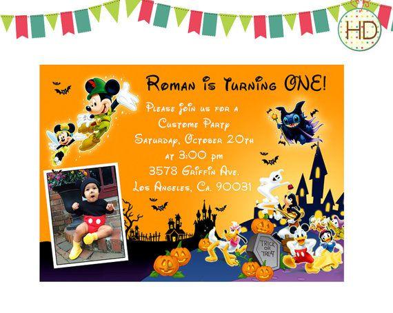 Mickey Halloween Invitation Mickey 1st Birthday by HDInvitations