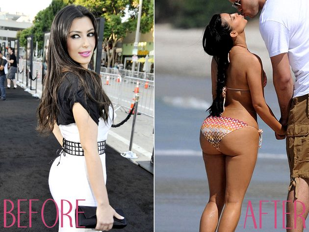 Kim karsdashian fake ass