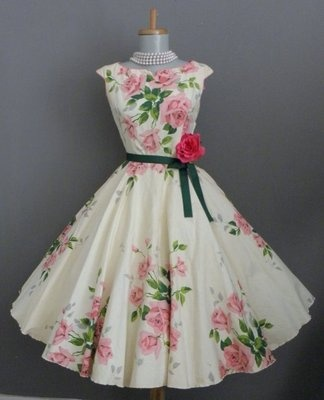 I admit I would remove the flower at the hip but after that I would wear this as often as possible.  Vintage lovely!
