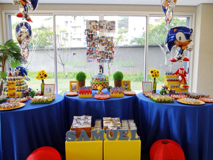 Sonic birthday party