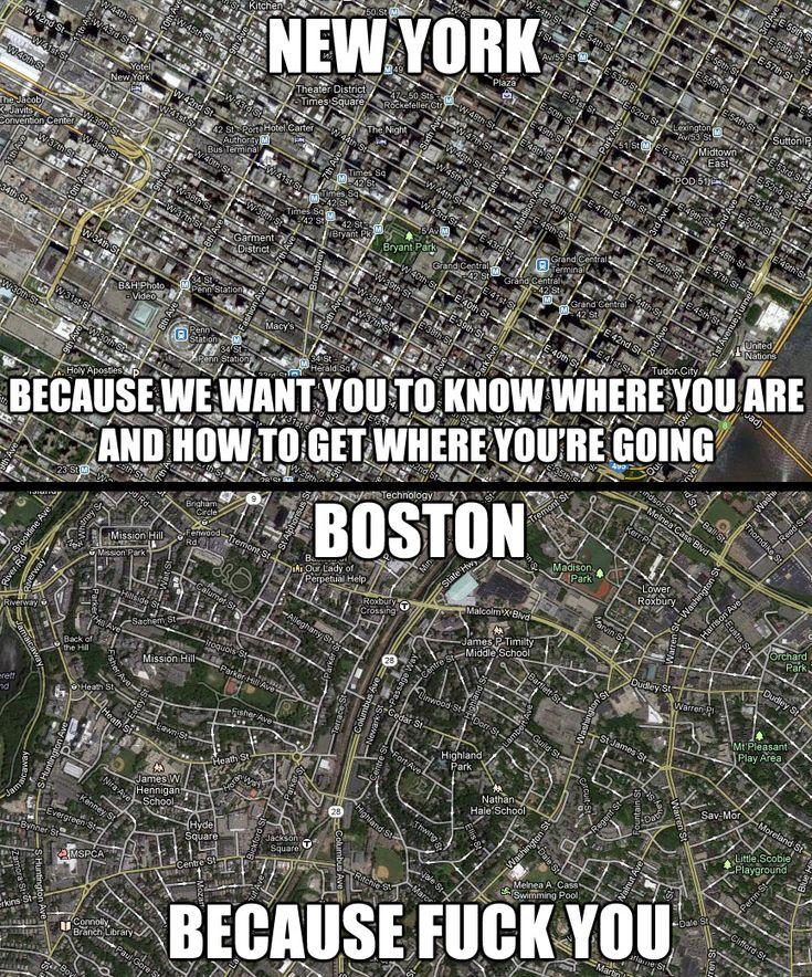 New York vs. Boston.