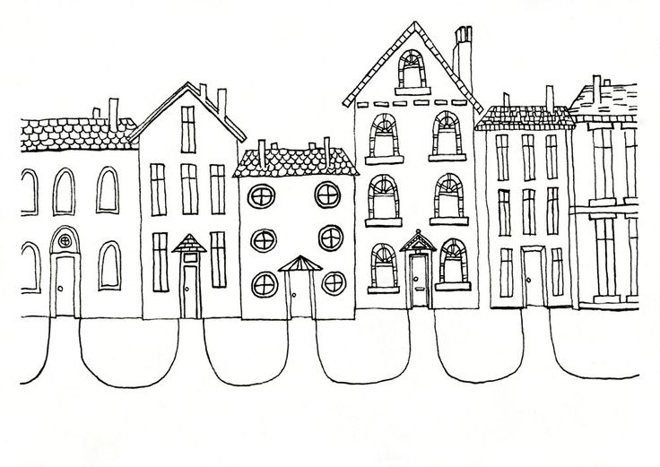 Cute House Illustration Print For New Neighbors Family Or Friends 20 00 Via Etsy