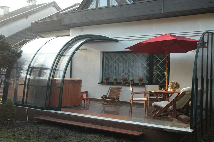 Do you want to cover hot tub and seating set? CORSO ENTRY terrace enclosure is the right choice for you.