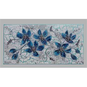 ' Ramo fiori blu '