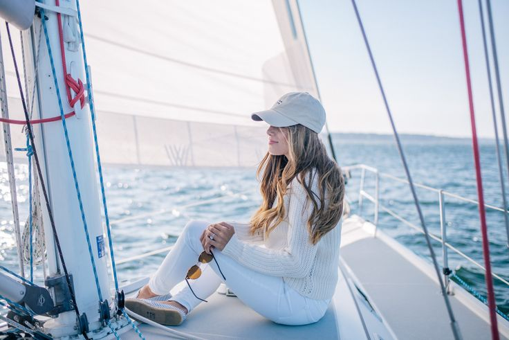Gal Meets Glam Sail Away With Me - 360 Sweater Knit, Old Navy jeans & Tuckernuck hat