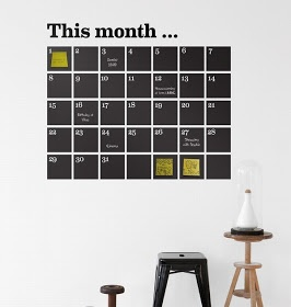 Mocca & Me: Cool DIY tip... paint a monthly planner on your wall!