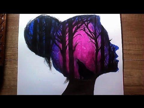 Sulu Boya Çalışması#5 / Watercolor / Double Esxposure - YouTube