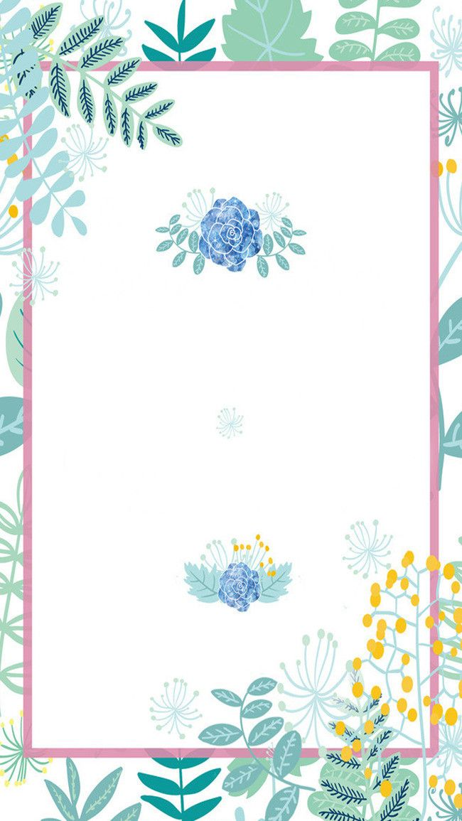 Blue Watercolor Flowers Background Invitation H5 Watercolor
