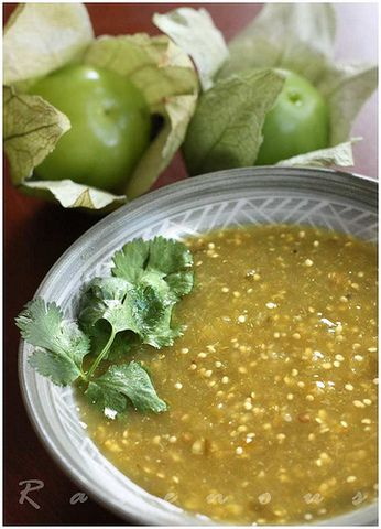 Salsa verde de tomatillo.  Some things you just have to get directly from the source.  If it's Mexican then the best source is authentic Mexican.