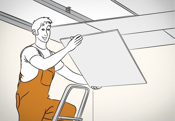 Decke Abhangen In 8 Schritten Abhangen Decke Leiter Schritten Zimmerdecken Heimwerken Deckchen