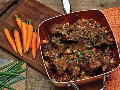 Short Ribs in the Copper Chef Pan!  Recipes | Copper Chef™ #Recipes #Dinner #ShortRibs #CopperChef