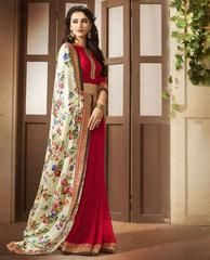 Red Color Satin Party Wear Sarees :  Avishka Collection  YF-43044