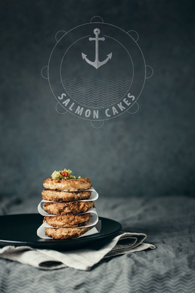Healthy salmon cakes @Two Coffee Beans