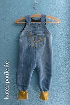 Strampelhose Klimperklein Jeans | Upcycling | Kater Paule näht