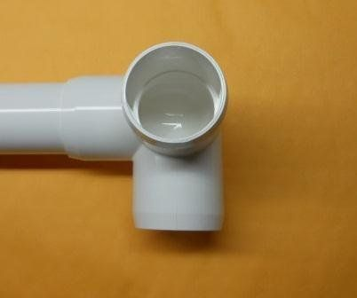 Furniture Grade 3 Way Elbow 4 per Order for 1 1/4 Inch PVC Pipe White by David's Garden Seeds by David's Garden Seeds. $13.44. Excellent for building greenhouse PVC frames. Can be used for water but is not stamped. Great for furniture projects. Works with standard United States pipe sizes. Sturdy and long lasting PVC fitting with shinny finish and beveled edges. These fittings are for building pipe structures, furniture and other fun stuff. They work with regu...