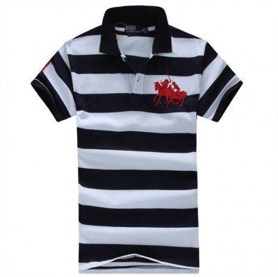 Ralph Lauren Custom-Fit Stripe Match Polo in White