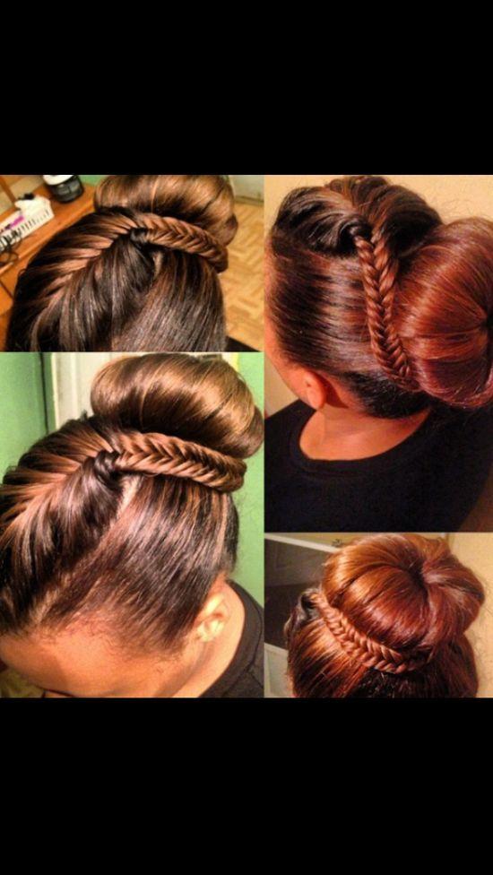 tween natural hairstyle fishtail braid