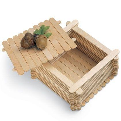 Craft Stick Trinket Box
