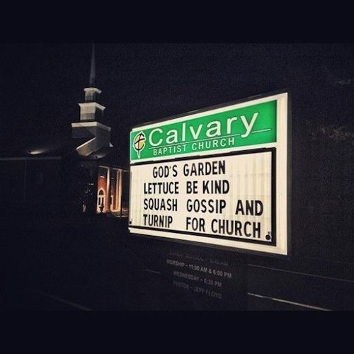 Funny Church Sign by kirsten