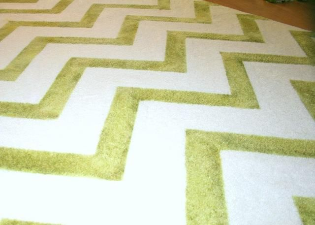 A hand-dyed rug! Just the solution I was looking for to personalize an inexpensive area rug.
