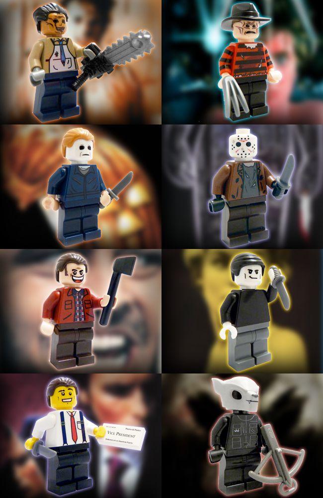 lego custom minifigures | Horror Film Custom LEGO Minifigures