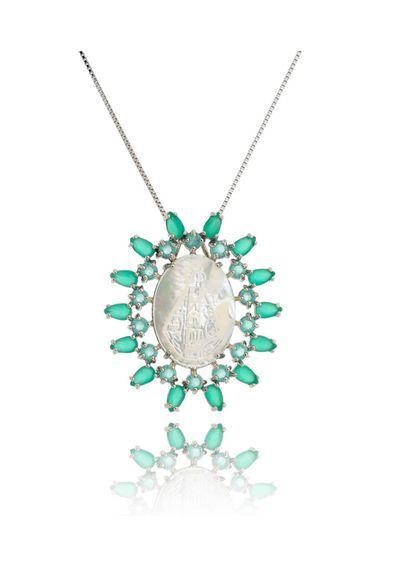 Colar-Nossa-Senhora-Aparecida-esmeralda-semi-joias-luxo   Joias em 2018 a21fb187db