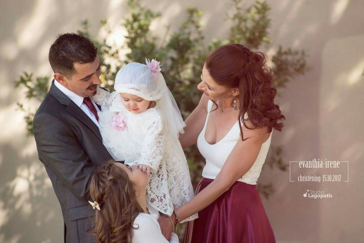 """Every #family has a #story , welcome to ours"" Nikos + Elpida + Mary + Evanthia Irene  :) 15.10.2017 #baptism #christening #happyday #happyname #october #babygirl #onlydaughters www.lagopatis.gr"