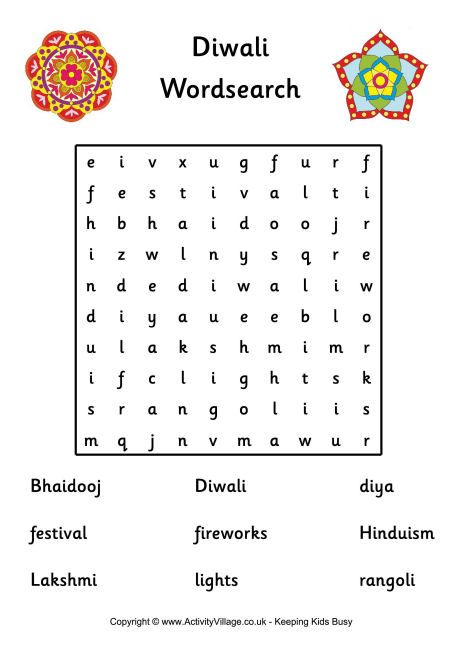 You kids will have so much fun doing this #Diwali inspired word search! #TandoorChef