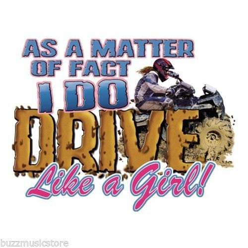 I do drive like a girl sticker decal humor mud racing car truck 4x4 redneck lol