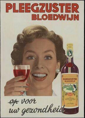 Jaren 60/70.....gezonde Pleegzuster Bloedwijn. Nog steeds lekker!!!.
