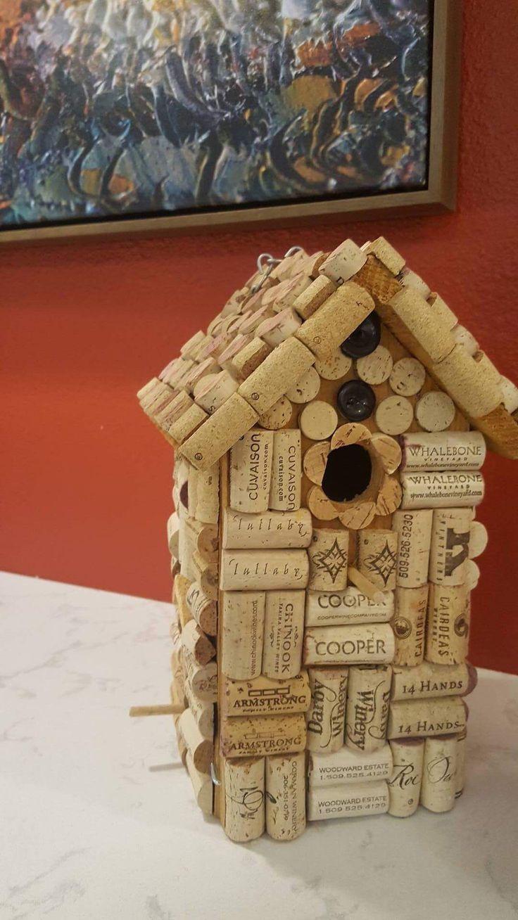 Washington Wine Corks  Wine cork birdhouse