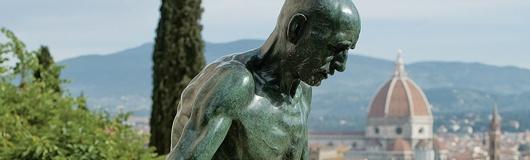 the beautiful exhibition of Francesco Messina's sculptures at Villa Bardini