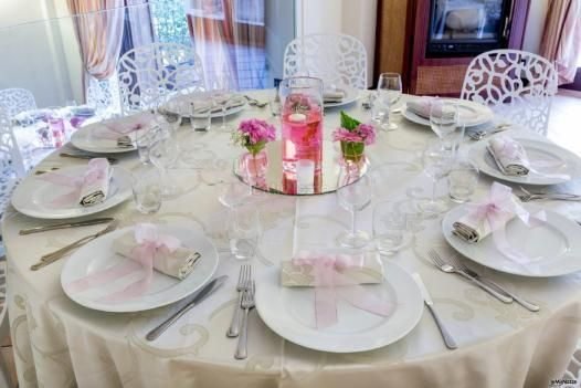 Mise en place dai toni #rosa per un matrimonio pieno d'allegria!