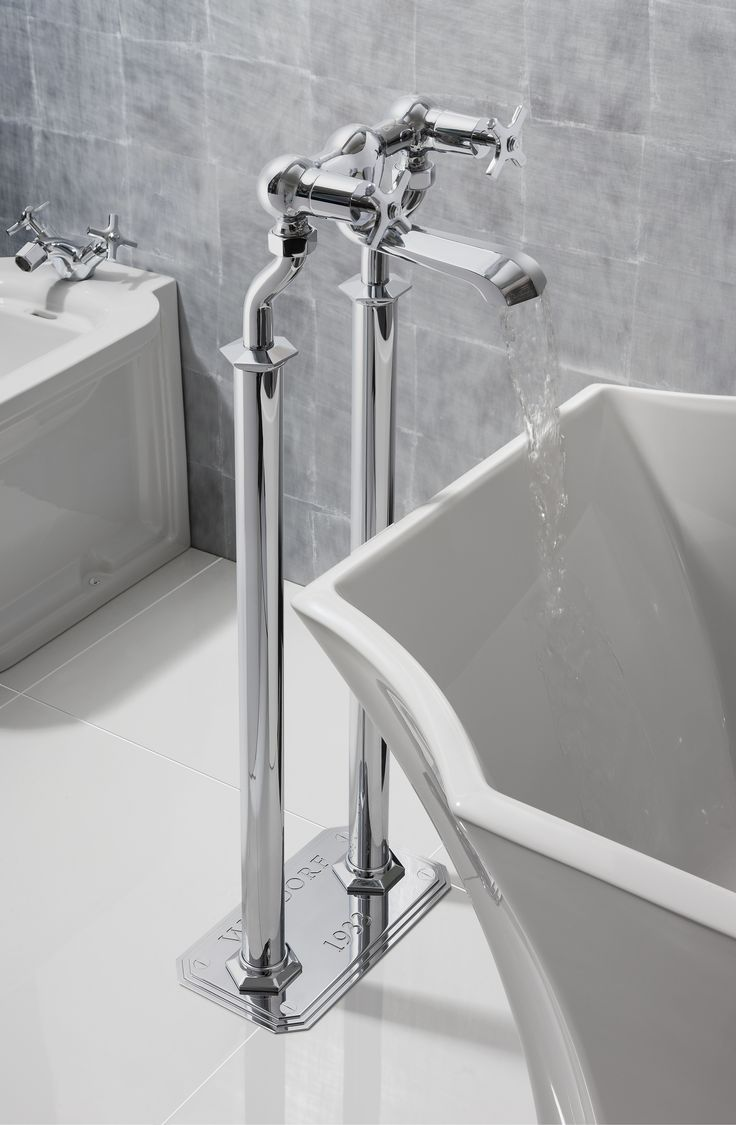 Bathroom tap designs - Traditional Design Waldorf Chrome Crosshead Floor Standing Bath Filler From Crosswater Http