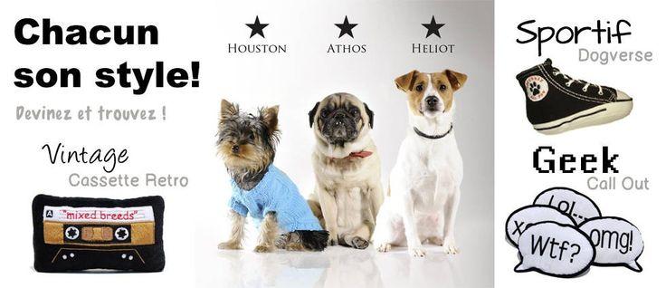 jouet chien : A chaque caractère de chien son style de jouet :D http://www.sweetiedog.com/boutique/6-jouets-chien mannequin: yorkshire ,carlin, jack russel