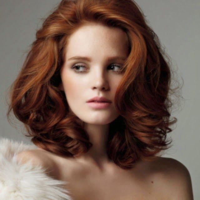 Dark Red medium length hair style