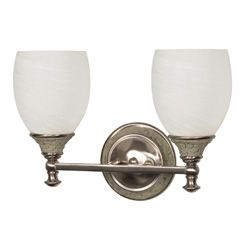 @Overstock - The Rockport Milano has the appearance of hand inlaid stones in neutral shades of grey and is complimented by brushed nickel metal work. Alabaster swirl glass shades deliver crisp light making this collection range from traditional to contemporary.http://www.overstock.com/Home-Garden/Rockport-Milano-2-Light-Brushed-Nickel-With-Alabaster-Swirl-Glass-Vanity/6822307/product.html?CID=214117 $47.99