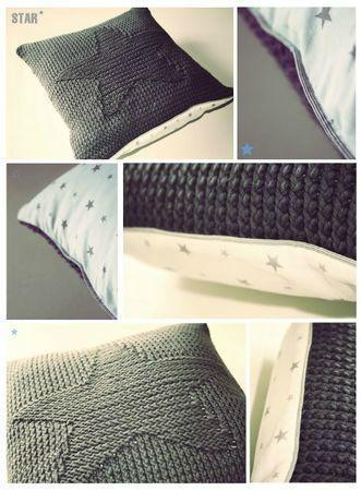 Patron diagramme toile coussin star crochet pinterest for Patron housse coussin rectangulaire