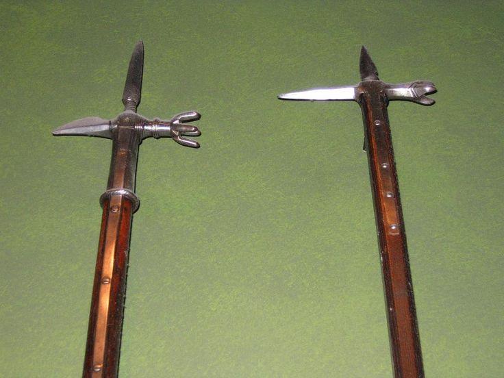 A Set of Bec de Corbin Polearms