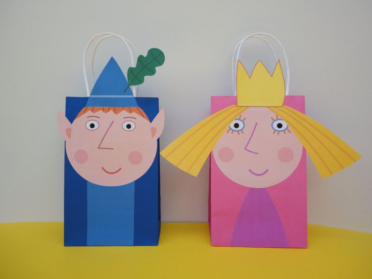 Instant Download Ben and Holly's Little Kingdom Favor Bags - Ben and Holly Goodie/ Party Bags, Ben Holly Birthday Party Favors - Printable by CreativePartyStudio on Etsy. Visit my Etsy Shop to purchase template. Ben and Holly Goodie/ Treat/ Goody/ Loot/ Candy/ Party Bags. Ben and Holly party decoration. Ben and Holly cake/ cupcake toppers/ labels/ stickers/ balloons/ invitation/ invite. Ben and Holly Bottle labels/ sign/ banner/ cookies/ candies