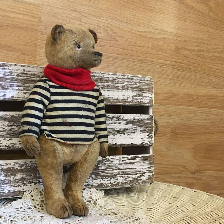 Мишка в тельняшке. #мишка#мишкатедди #теддимедведи #тедди #игрушки #подарок #тельняшка #ручнаяработа #мишкаводежде #teddy #teddybear #teddyartist #artinstagram #instagood #handmade #toys #дизайн #дизайндетской #коллекционныймедведь #коллекция