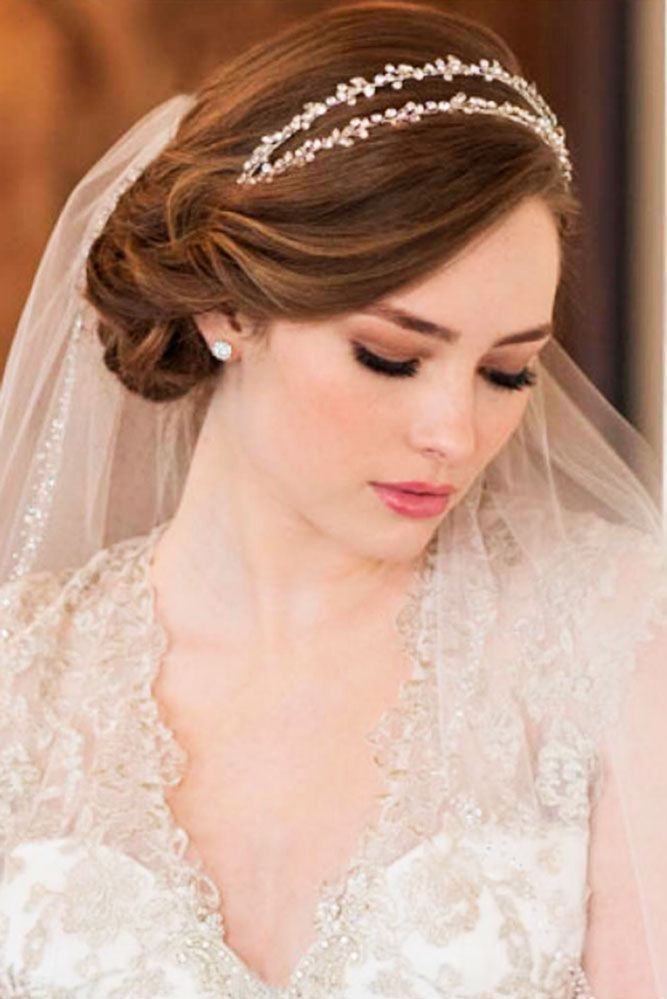 24 Wedding Hairstyles With Veil ❤ We picked up wedding hairstyles with veil for updos and half-down, bun, long and short hair special for you. It is an undisputed symbol of every bride. See more: http://www.weddingforward.com/wedding-hairstyles-with-veil/  #weddings #hairstyles