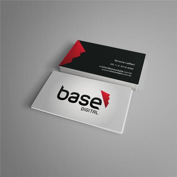 Logo e Cartão de Visita para A Base Digital #branding #logo #graphicdesign