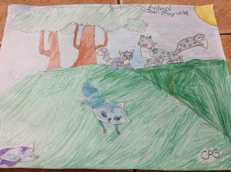 My drawing of my favorites animals in animal jam play wild