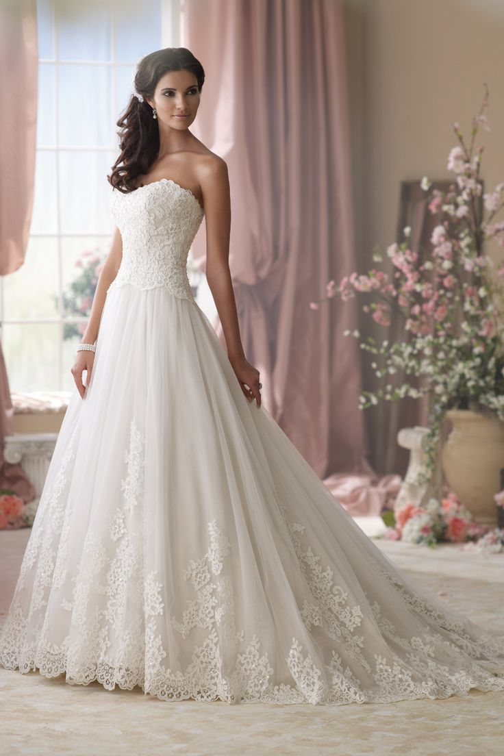 Boho Chic Classic Nautical/Preppy Romantic Vintage Ivory $$ - $701 to $1500 Ball Gown Beading David Tutera for Mon Cheri Floor Lace Natural ...