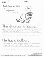 Thumbnail picture of the first worksheet in the set Read, Trace, and Write Worksheet 1-5