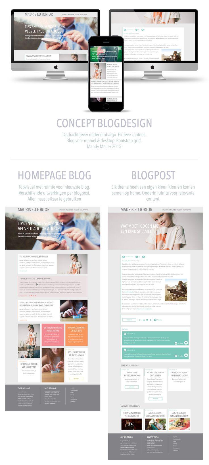 Concept opdracht blogdesign